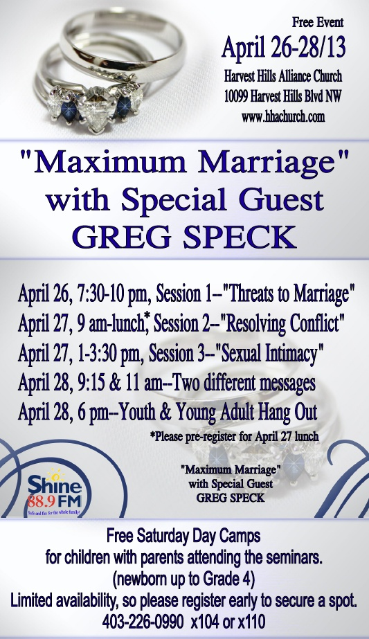 """Maximum Marriage"" with Greg Speck"