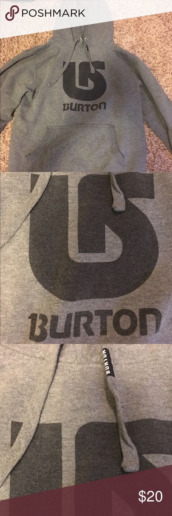Gray Burton Hoodie Gray Burton Snowboarding Hoodie. Burton Tops Sweatshirts & Hoodies