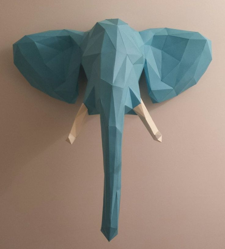 """An incredible DIY take on faux-taxidermy. (And if you think you can't do it, check out all the people in the comments section that did!) instructables: """" Papercraft Elephant Head by innovator007 """""""