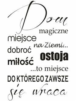 szablony malarskie do wydrukowania | Cytaty 098 / Napisy i Cytaty / Naklejki na ścianę i szablony ...