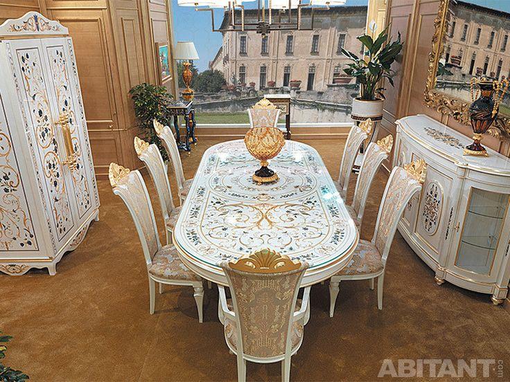 Белая мебель для столовой