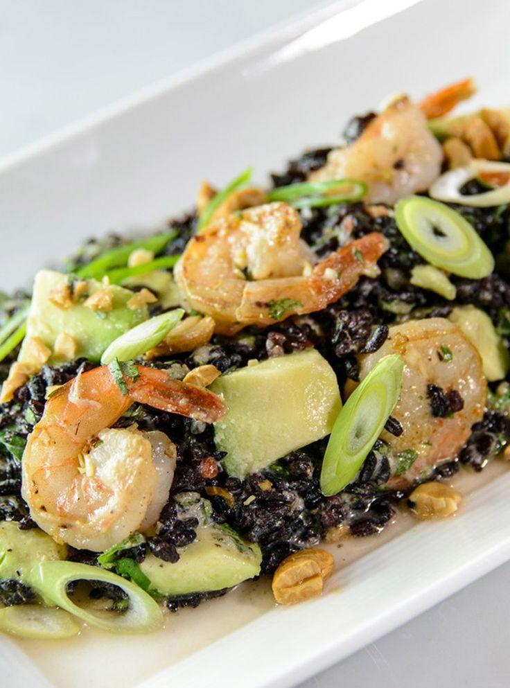 Recette de salade de riz défendu aux crevettes de Caroline Dumas