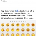 Add Smiley Face Icons to your emails and text messages with Emoji Keyboard Toggle