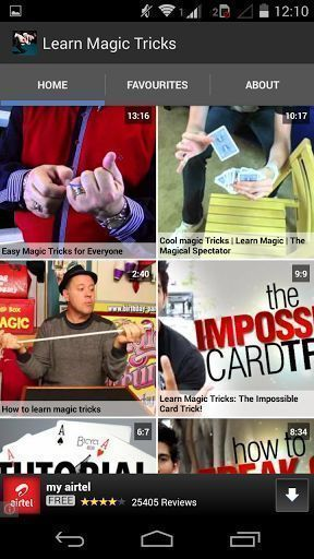Learn Magic Tricks is a free application with lots of Magic Tricks videos to help you understand the secret behind magic tricks and learn to do it yourself and be a small magician of street magic shows or small occasions.<p>Disclaimer: Learn Magic Tricks Videos are fetched from publically available videos in YouTube. Copyright for the videos belongs to the uploaders of respective videos or to the original creators.  http://Mobogenie.com #streetmagictricks #streetmagician