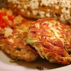 These really taste like crab cakes but without the crab, and are a really good way to utilize that bumper crop of zucchini!...