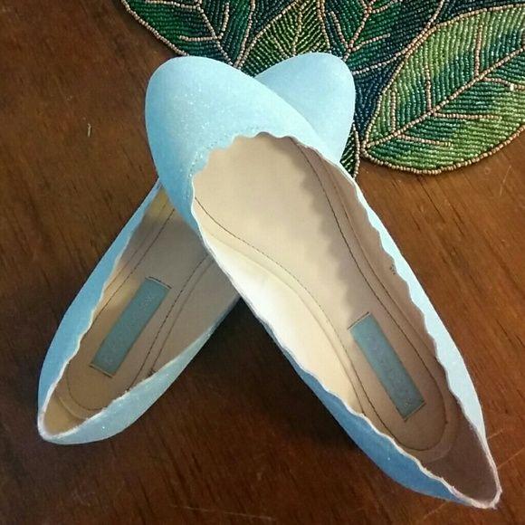 Betsey Johnson Glittery Blue Flats