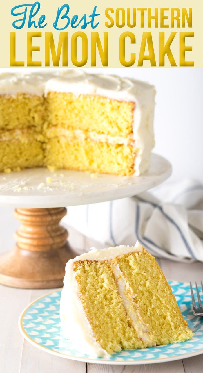 The Best Lemon Buttermilk Cake Recipe ever! This simple southern lemon layer cak…
