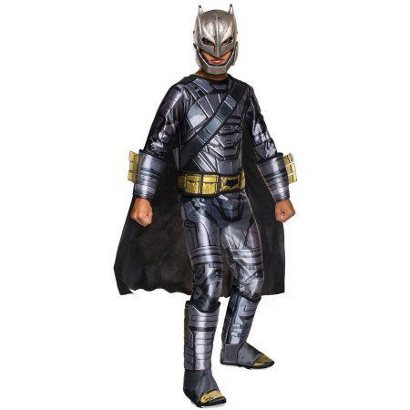 Batman Vs Superman: Dawn of Justice Deluxe Armored Batman Child Halloween Costume, Boy's, Size: Medium, Black