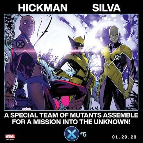 Hickman And Silva Assemble A Special Team Of Mutants In X Men 5 In 2020 Marvel X Men Man Thing Marvel