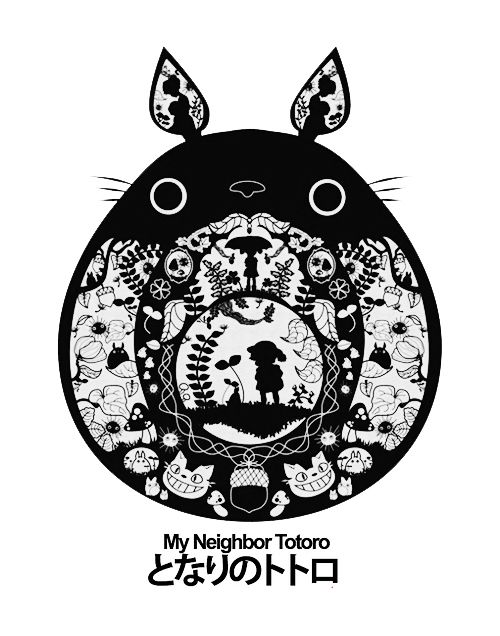 My Neighbor Totoro by Hayao MIYAZAKI となりのトトロ - I wonder if this would be possible as a tattoo?