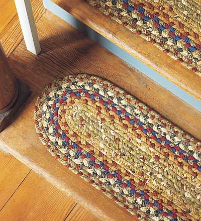 staircase tread braided rugs | Braided Stair Treads