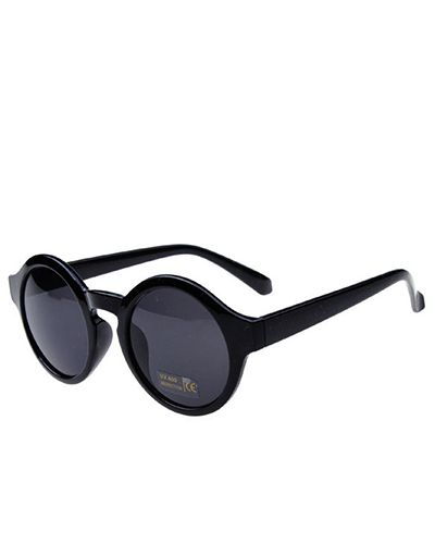 Round Sunglasses With Bright Black Frame @yoyomelodydress