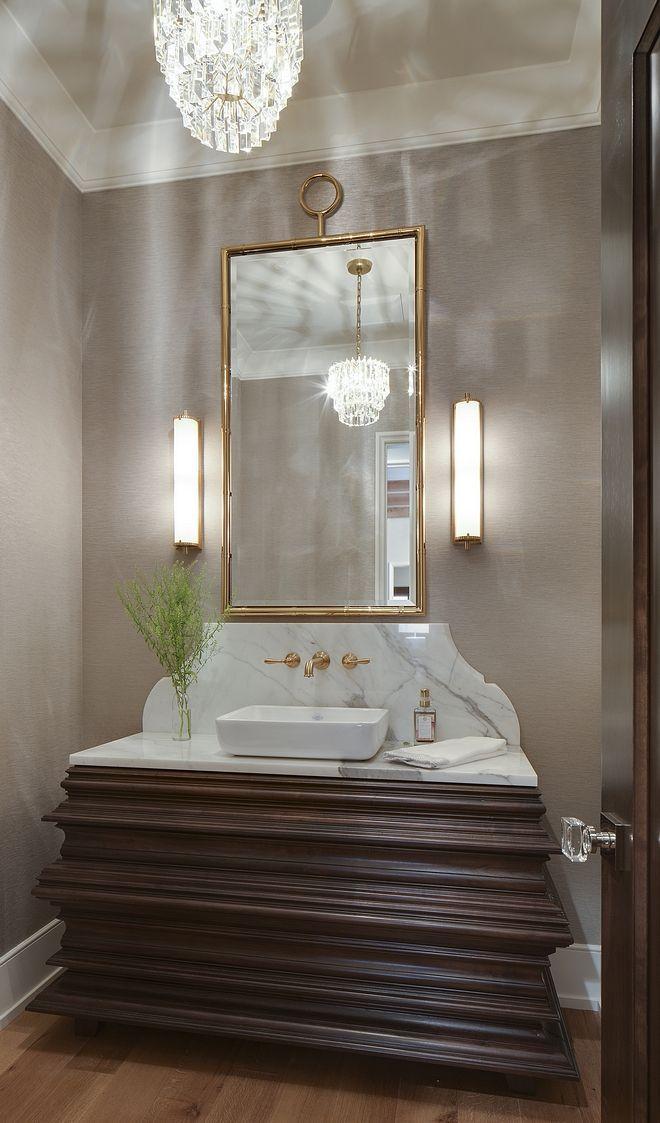 Walnut Custom Bathroom Vanity Wood Finish Gold Mir Bathroom