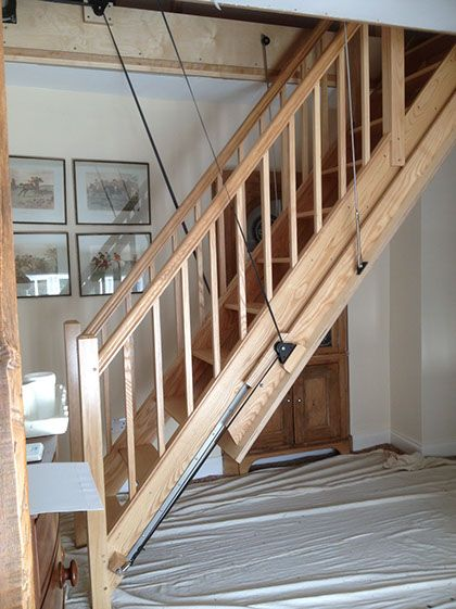 The 25 best loft stairs ideas on pinterest small space Motorized attic stairs