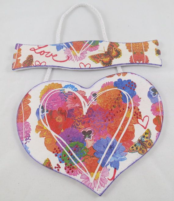 Wooden heart wall decoration. Perfect for your Valentine!