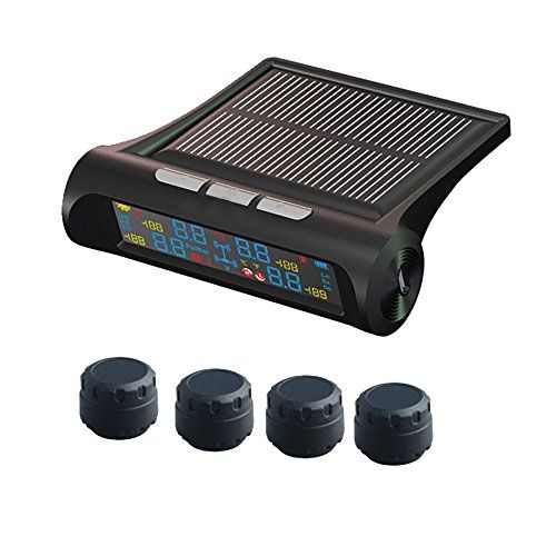 FociPow Solar Energy TPMS Tire Pressure Monitor System Adjustable LCD Display with USB Charger. For product info go to:  https://www.caraccessoriesonlinemarket.com/focipow-solar-energy-tpms-tire-pressure-monitor-system-adjustable-lcd-display-with-usb-charger/