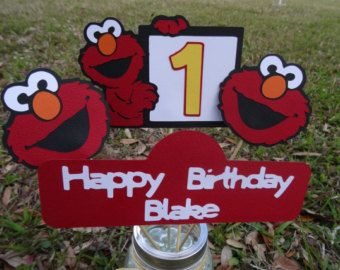 Elmo Party set Elmo party package Happy Birthday by Mariapalito