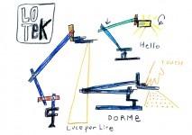 Lotek, sketch by Javier Mariscal, 2012