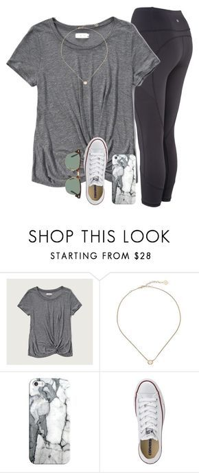 """watching the hunger games"" by serenag123 ❤ liked on Polyvore featuring Abercrombie & Fitch, Kendra Scott, Casetify, Converse and Ray-Ban"