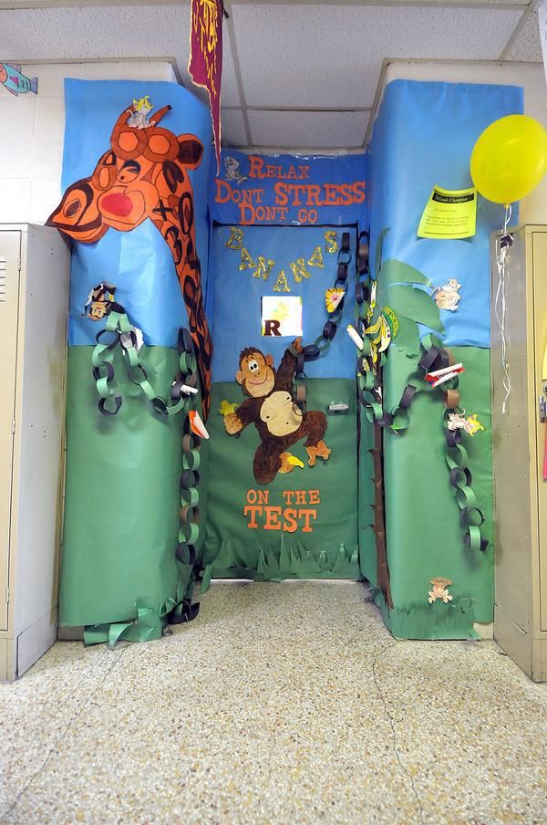 Jungle Classroom Decoration Ideas ~ Classroom door decoration for standardized testing week