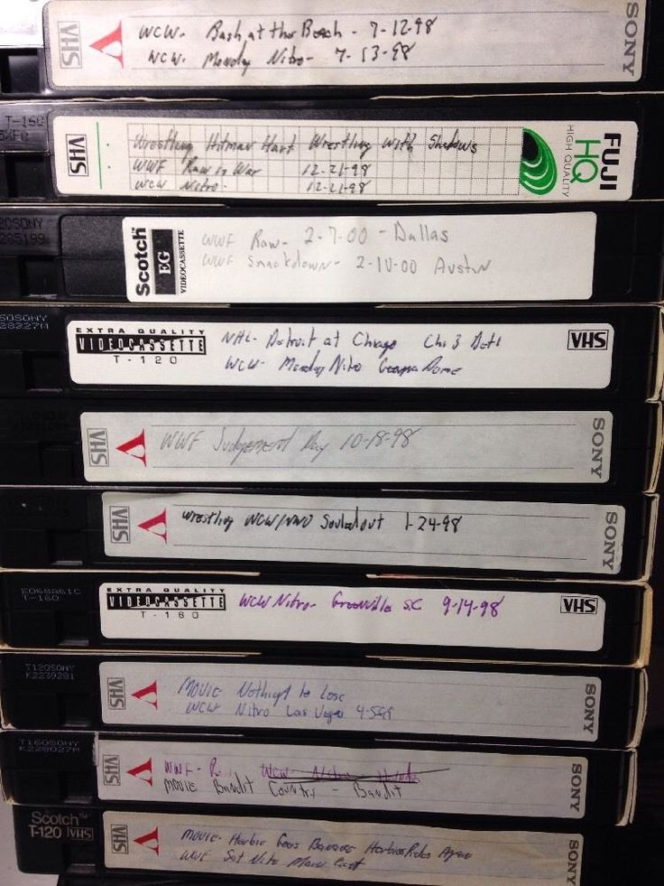 Lot of 10 Wrestling VHS Tapes sold as blanks WWF WCW RAW Nitro Judgment Day PPV