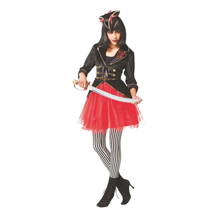 Halloween Women's Pirate Costume Jacket 3X, Size: Xxxl, Black