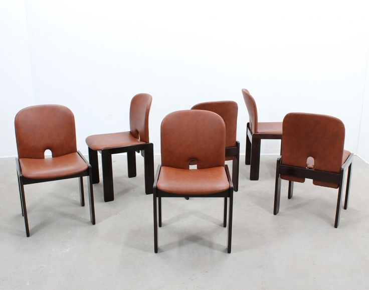 Set of 6 model 121 dinner chairs from the sixties by Afra Scarpa & Tobia Scarpa for Cassina