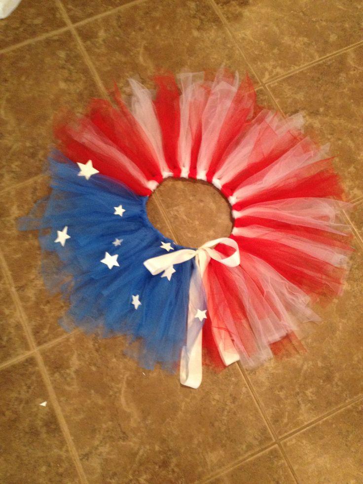 DIY Cute patriotic Captain America Tutu