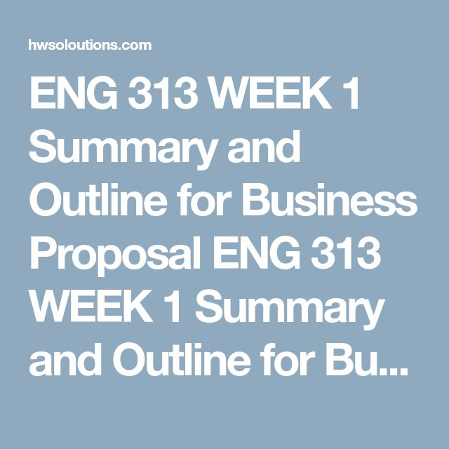 ENG 313 WEEK 1 Summary and Outline for Business Proposal ENG 313 WEEK 1 Summary and Outline for Business Proposal ENG 313 WEEK 1 Summary and Outline for Business Proposal Consider the purpose and the problems that are the basis for the for a business proposal.  Write a 500- to 700-word summary and detailed outlinefor a real or fictional situation where an individual or business needs to contract with an outside vendor for products or services. Alternatively, you may develop a summary and…