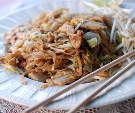 low fat quick pad thai