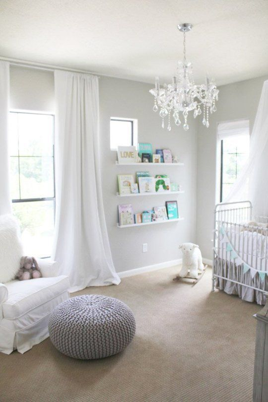 There's more to pink and blue for babies. Gray creates calm and elegance in this lovely nursery.