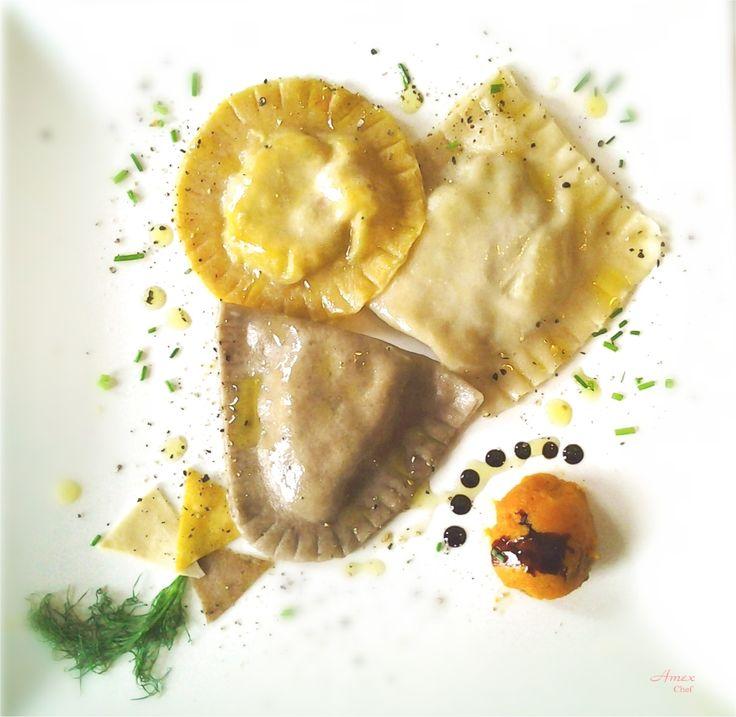 Ravioloni tricolore.- Trójkolorowy Ravioli (pierogi) - Tricolor Ravioli. -  Chiedi la ricetta! zapytać o przepis! ask for the recipe! info@del-italy.com www.del-italy.com