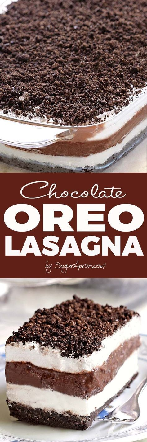 No Bake Chocolate Oreo Lasagna will make all Your Chocolate and Oreo dreams come true.