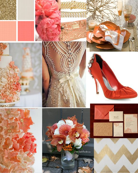 Niagara Wedding Planner | Fall Colour Scheme: Coral & Gold! » Niagara Wedding Planner and Designer