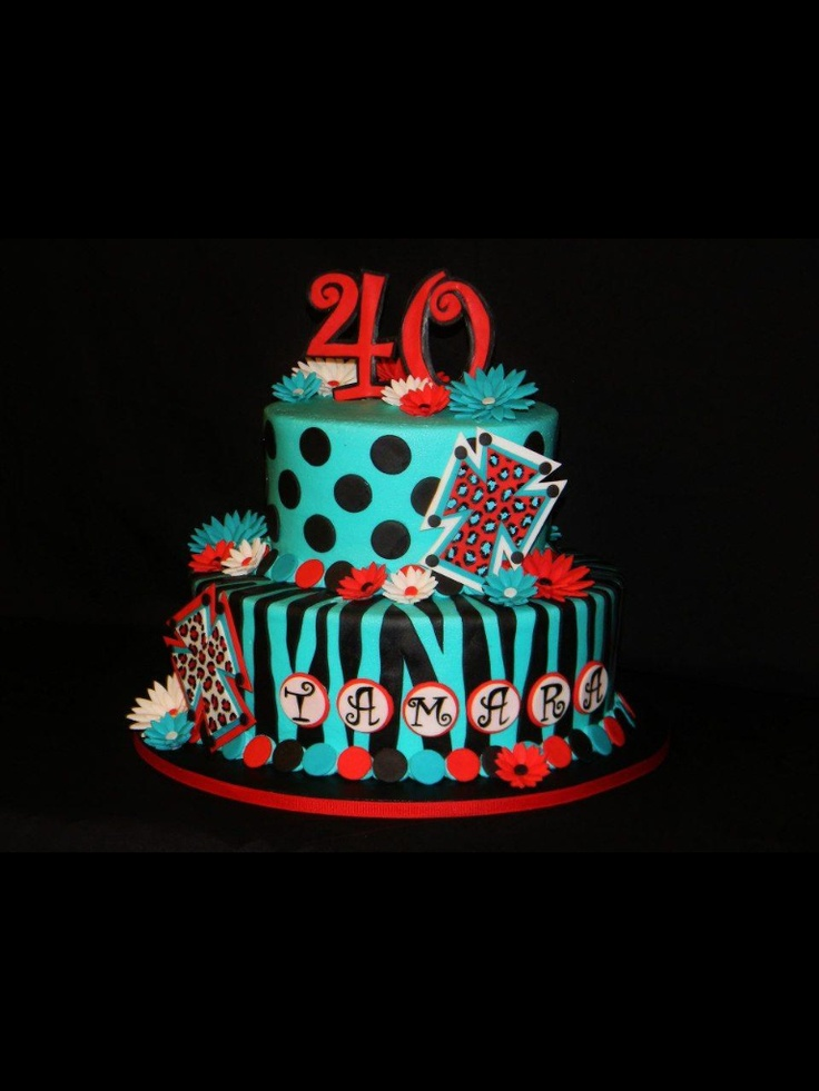 44 Best Images About 40th Birthday Cakes On Pinterest