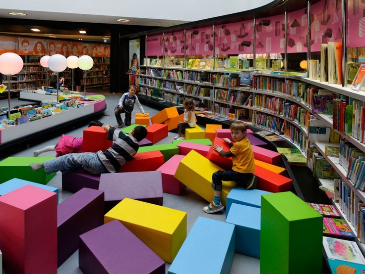 ** Children's section at the library in Almere, The Netherlands
