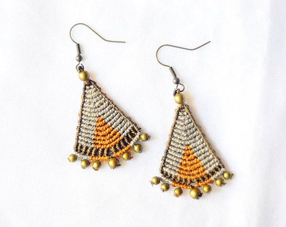 African Boho Chic Brown Earrings MADE TO ORDER by OuiClementine.