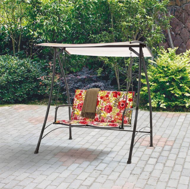 Patio Swing Canopy Hammock Outdoor Porch 2 Person Seat Yard Beach Deck  Furniture #Mainstays