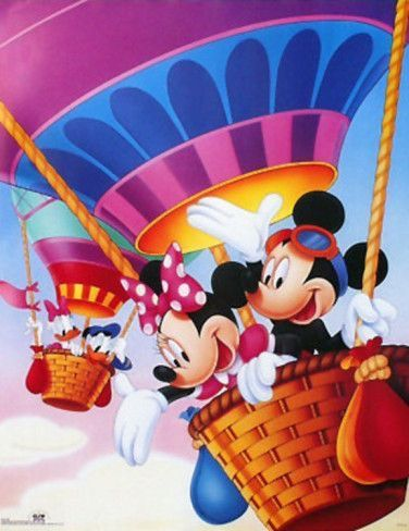 Mickey & Minnie Mouse & Donald & Daisy Duck