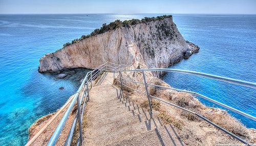 Porto Katsiki Passage, Lefkada, Greece. Top 10 beaches in Europe, World's Top 100 beaches.