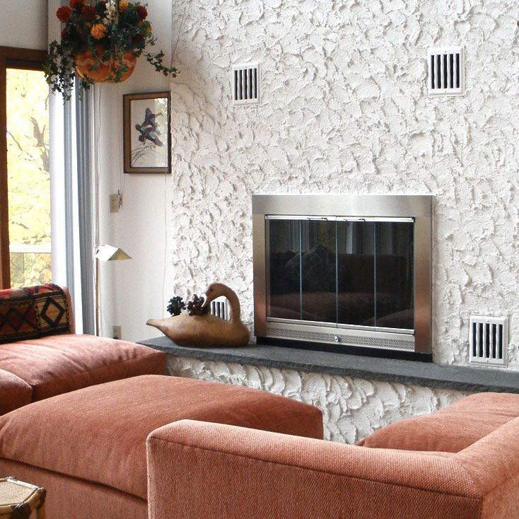 slimline fireplace door - Glass Fireplace Doors