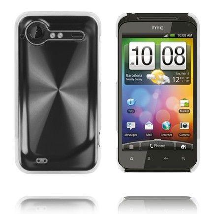 Alumiini Suojus (Musta) HTC Incredible S Suojakuor