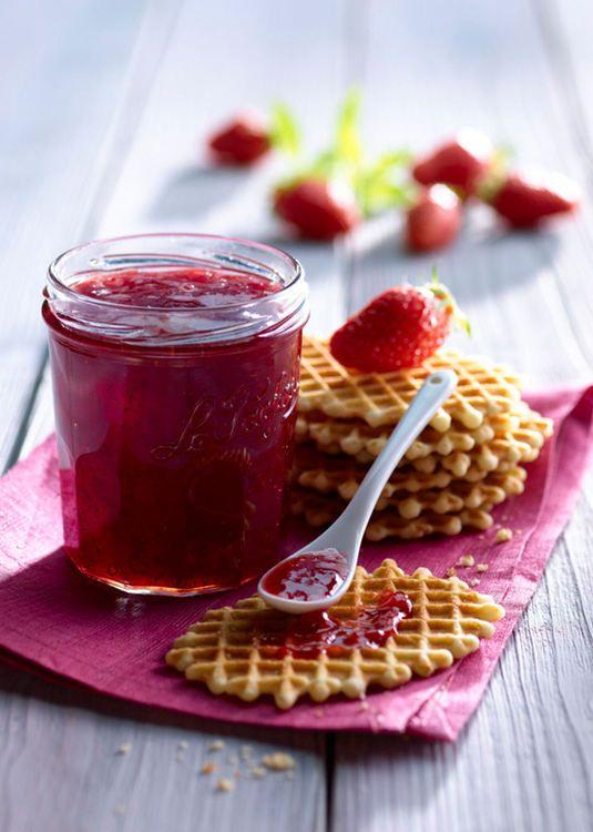 Confiture fraise-verveine