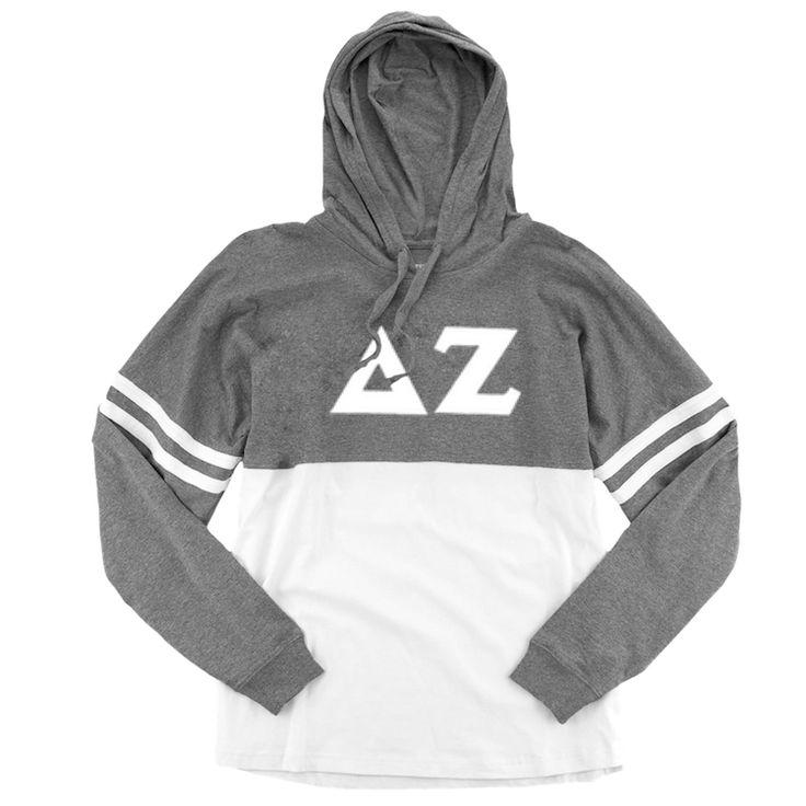 Now available Delta Zeta Long S... Shop http://manddsororitygifts.com/products/delta-zeta-hoodie-ls-sgl?utm_campaign=social_autopilot&utm_source=pin&utm_medium=pin