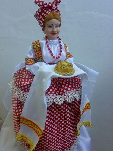 Персональный сайт - кукла на чайник с караваем