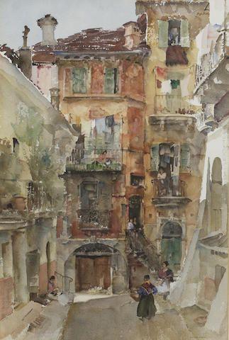William Russell Flint - An Italian Warren