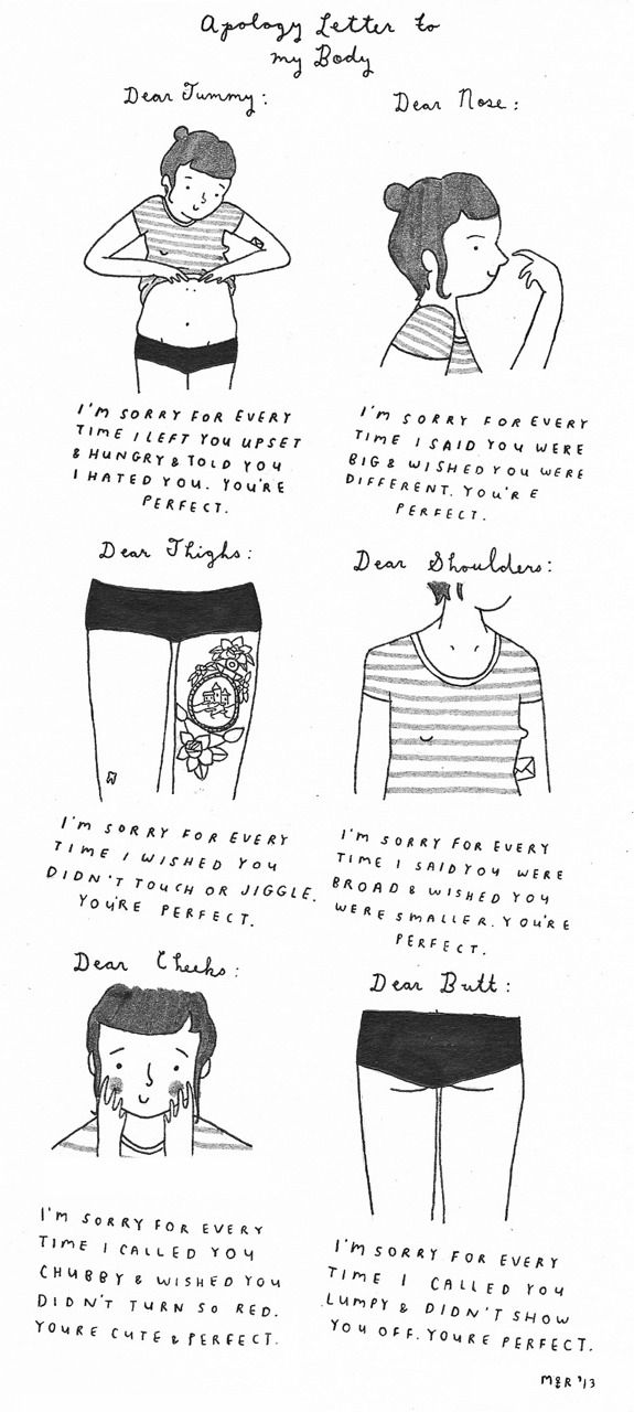 Apology Letter to our bodies