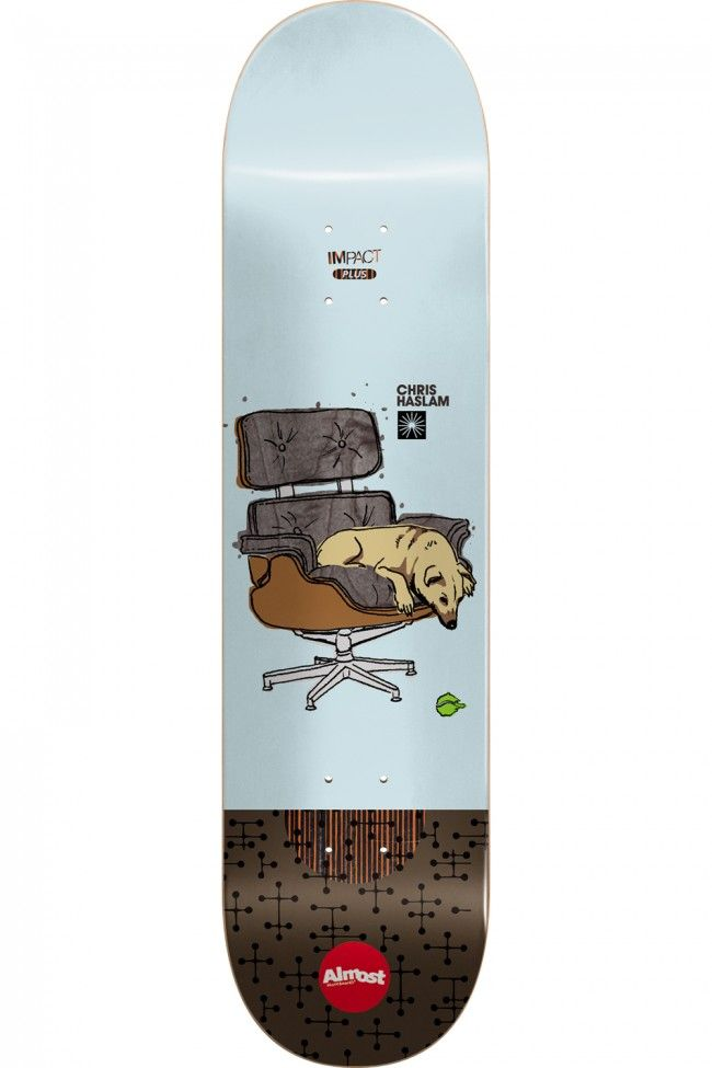 Chris Haslam Impact Plus Modern Sitter Skateboard Deck by Almost