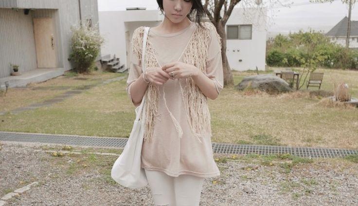[reflower] 밧줄조끼가디건/ sleeveless cardigan vest : 리플라워