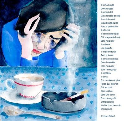 Dejeuner du matin, poeme par Jacques Prevert